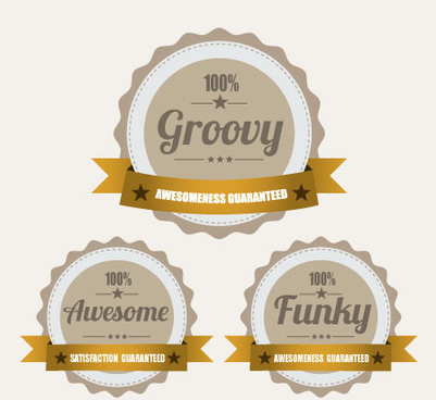round icons vector illustration of funny guarantee