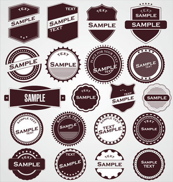 round labels vintage styles vector