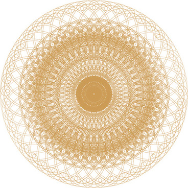 round lace ornaments background art vector