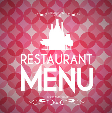 round pattern background with restaurant menu vector