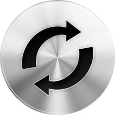 Round silver refresh button