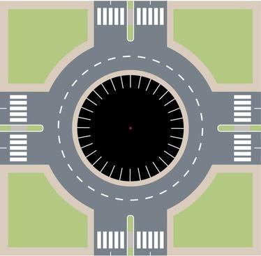 round site plan vector