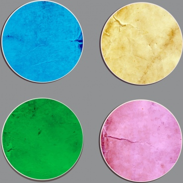 round stickers collection colored retro decoration