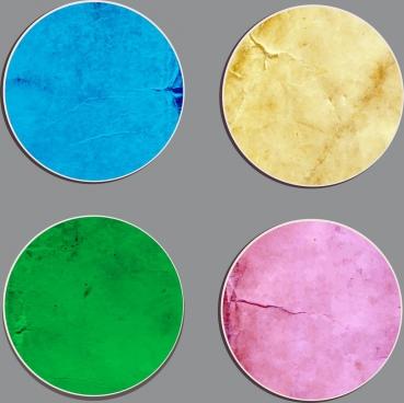 round stickers collection colored retro decoration
