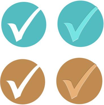 round tick icons