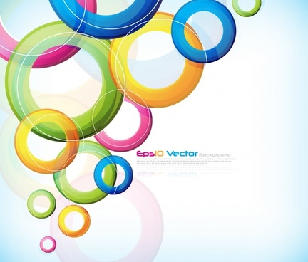 circles background colorful modern flat floating design