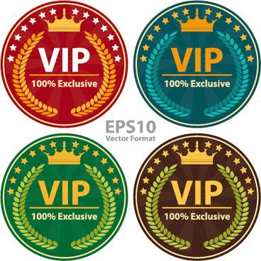 round vip badges sign vector