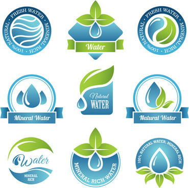 round water logos vectors graphics