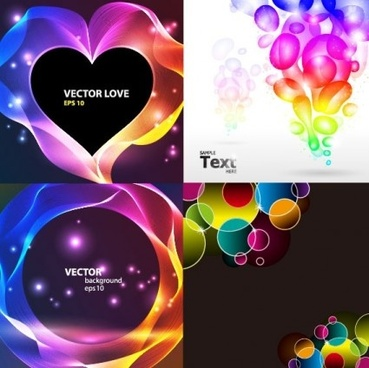 round with heart shape fashion background vector
