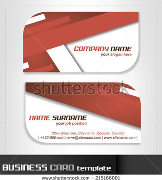 rounded business cards template vector