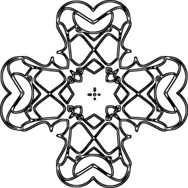 Rounded Cross Outline clip art