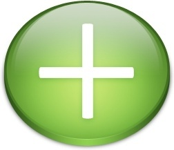 Rounded green cross sign button