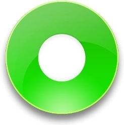 Rounded green record button