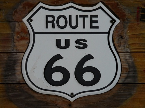route 66 shield plaque