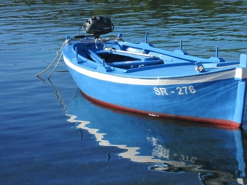 rowing boat wooden boat fishing