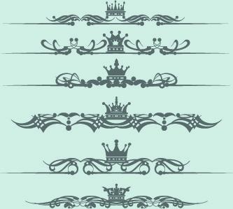 royal crown decor vector