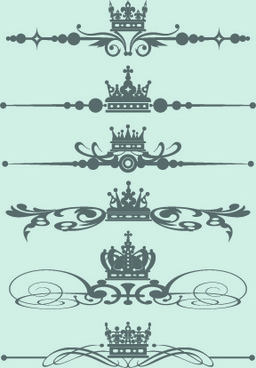 royal crown decor vector