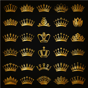 royal crown gold vector