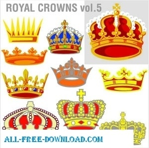 Royal Crowns Vectors eps