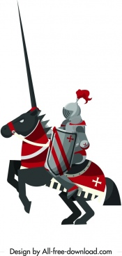royal knight icon iron armor horse decor