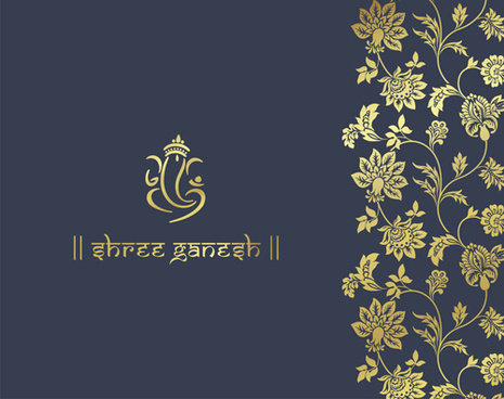 royal ornaments floral luxury background vector