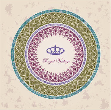 royal vintage round decoration