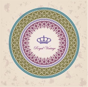 royal vintage round decoration