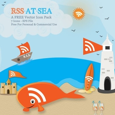 RSS At Sea – Orange Vectors With A Nautical Twist