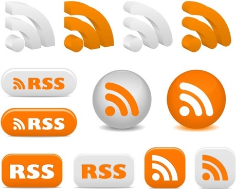 rss feed icon vector