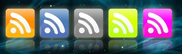 RSS PSD Icons