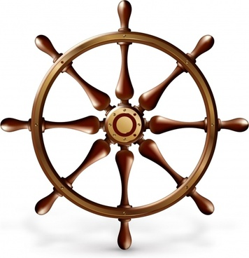 ship steering wheel icon shiny colored modern sketch