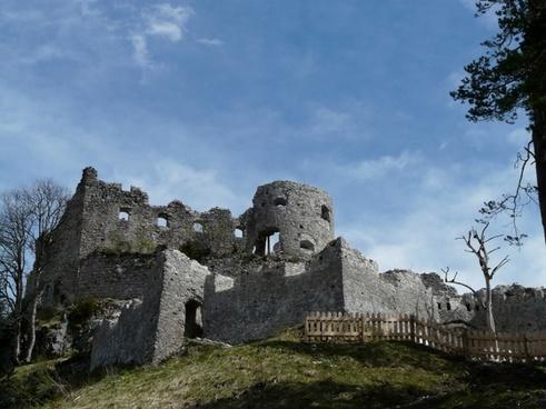 ruin castle ehrenberg
