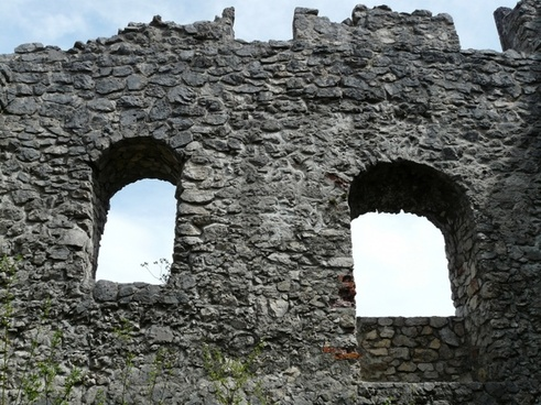 ruin castle window