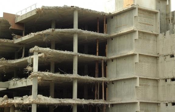 ruin demolition building