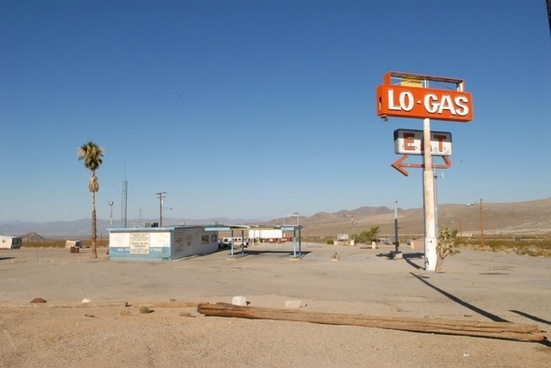 ruins gas station