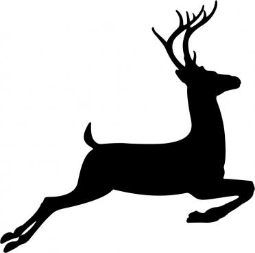 running deer stencil vector free vector