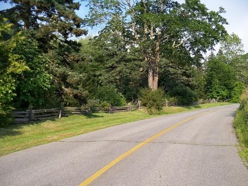 rural rural road country road