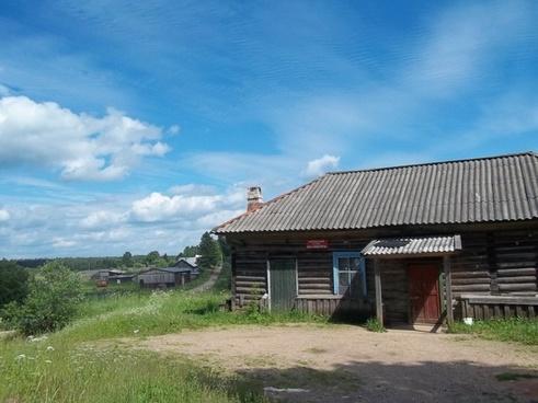 russia buildings log cabin