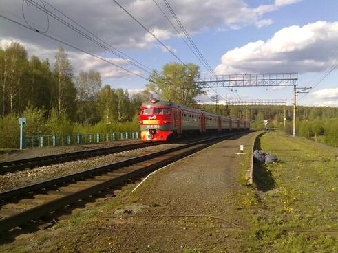russia landscape train