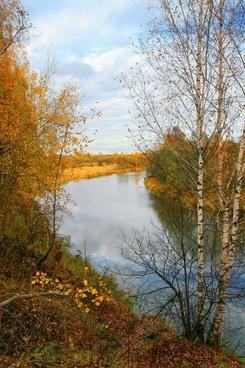 russia peksha river landscape