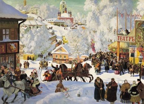 russia winter wintry