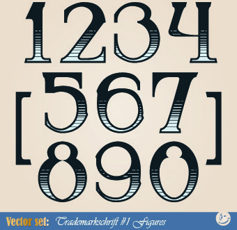 russian alphabet with numbers vector