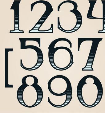 Free Download Number Symbols For Illustrator Free Vector Download