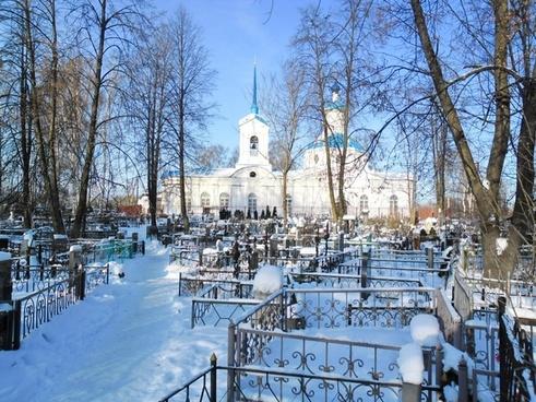 russian landscape church