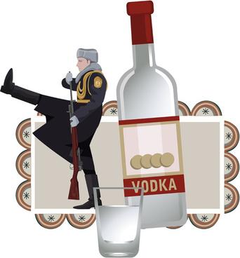 russian style creative design vector