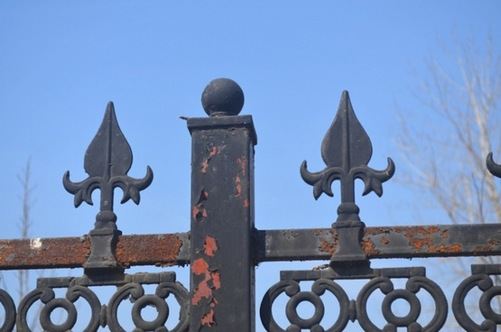 rusting fence