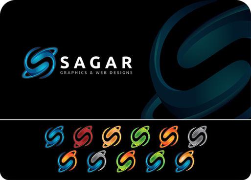 s letter 3d logo design