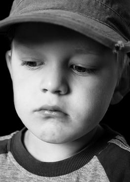 sad child boy
