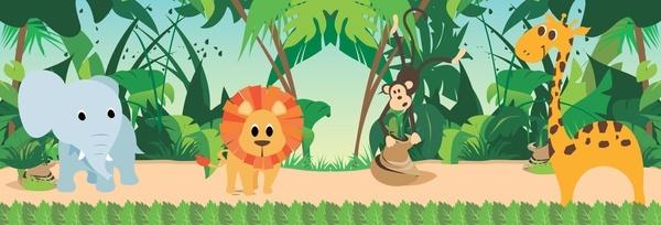 safari jungle animals