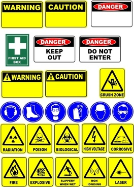 Safety Signs clip art